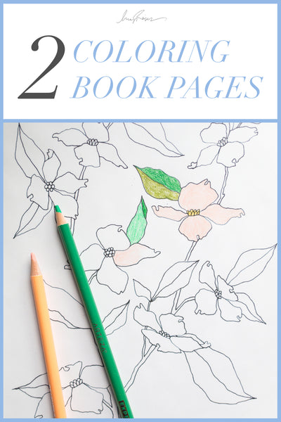 2 COLORING BOOK PAGES