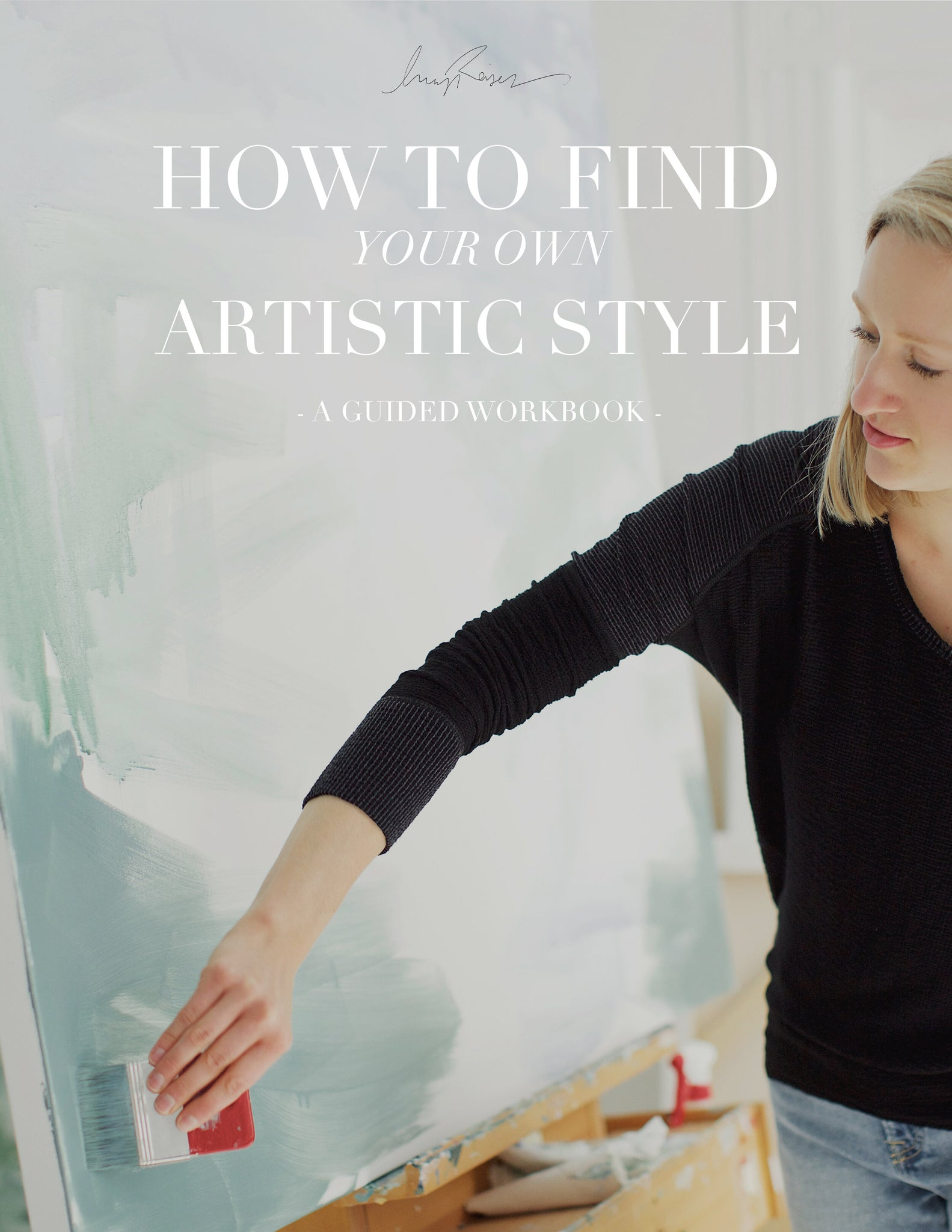 How to find your own artistic style guided workbook cover