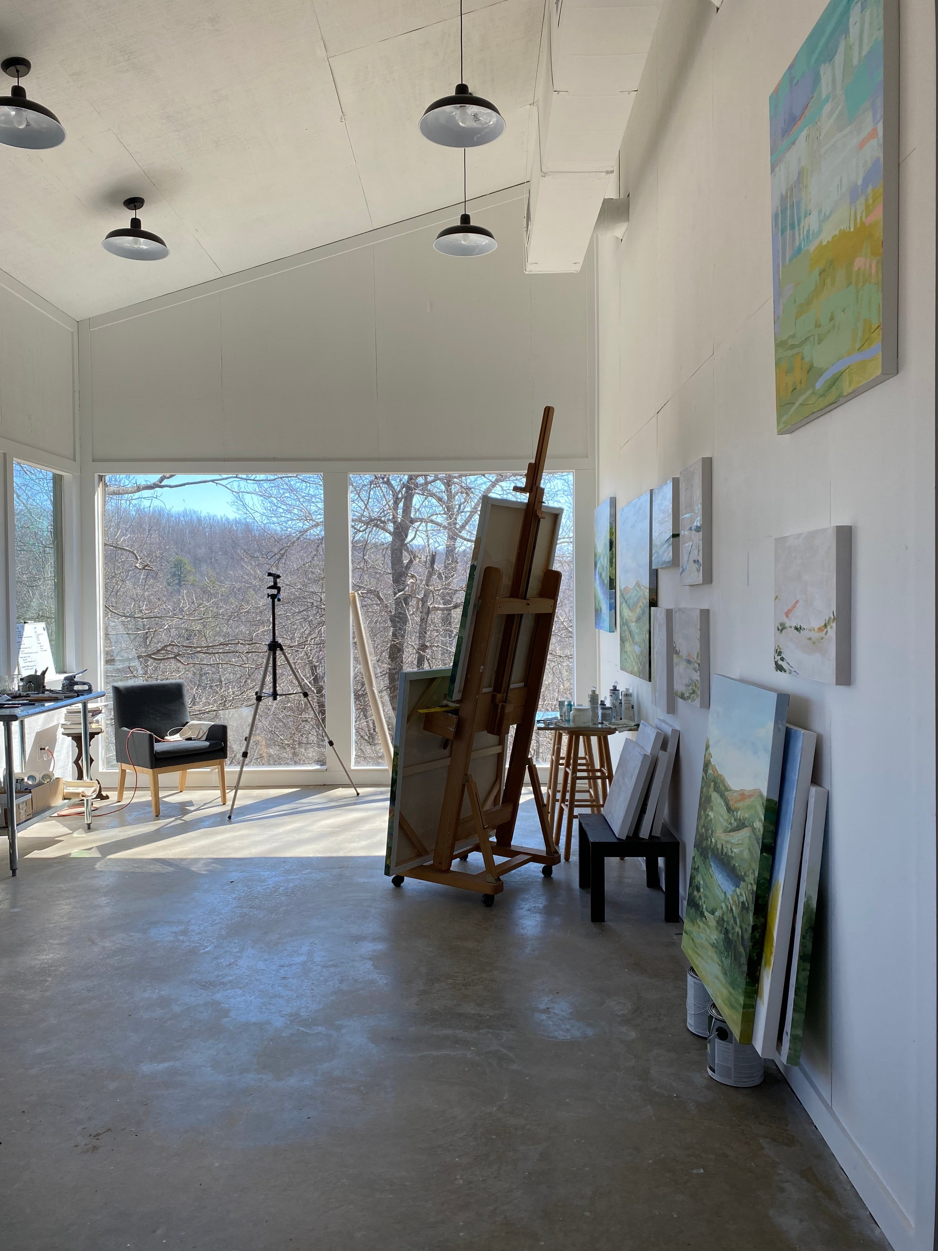 A beautiful day in the studio