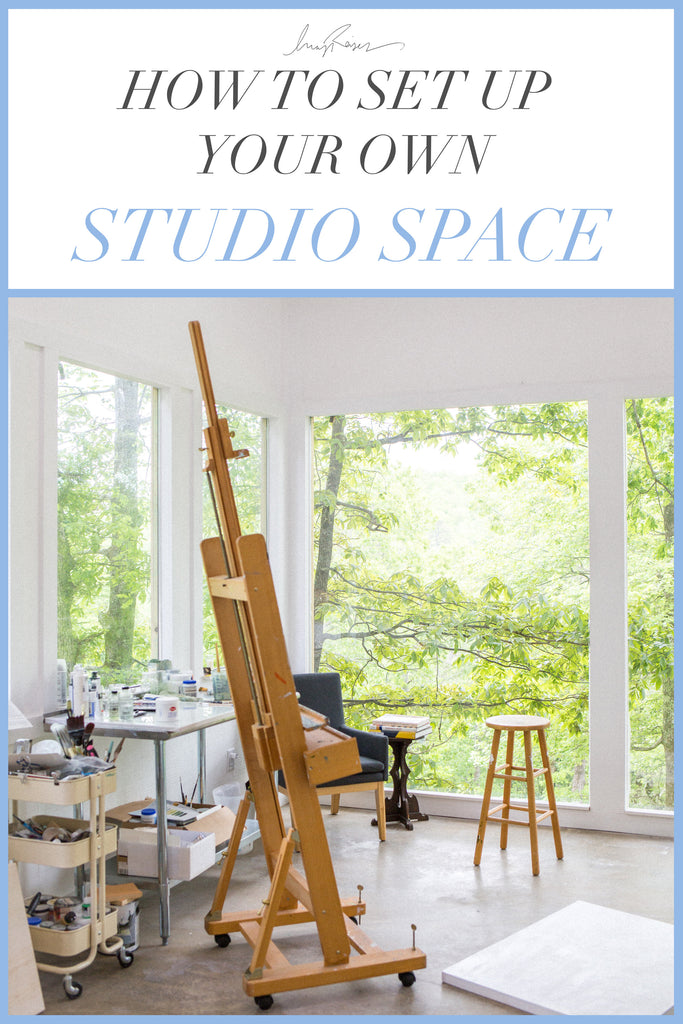 5 tips to setting up a successful art studio space
