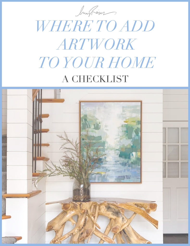 Where to add artwork to your home - a checklist cover