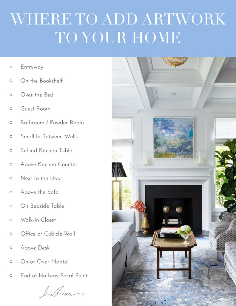 Where to add artwork to your home