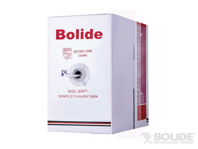 ETL CMR Rated 65 Strand Solid Copper 16/2 Cables | BP0033/16-2/White | Bolide Technology Group | San dimas, california