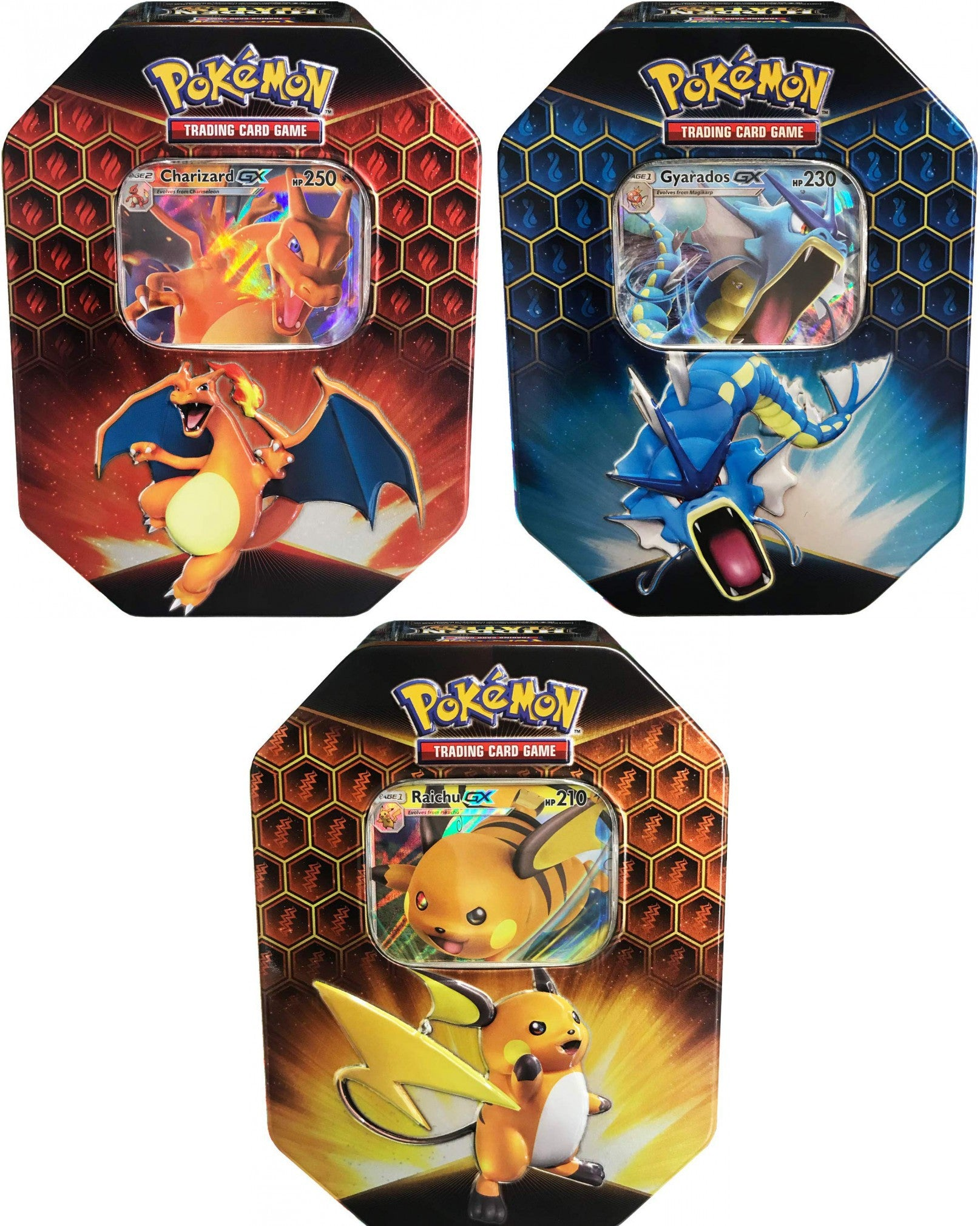 POKEMON - PACK 3 TIN - HIDDEN FATES GX - ENG