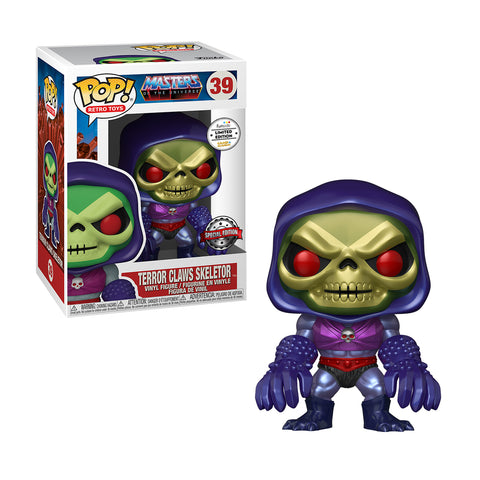 MASTER OF THE UNIVERSE - POP FUNKO VINYL FIGURE 39 SKELETOR W/ TERROR CLAWS (MT) GA EXCL