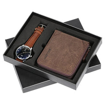 Load image into Gallery viewer, Business Men's Quartz Wristwatch Men Watches Purses Money Clip Credit Card Leather Wallet Gift Set for Dad Boyfriend Top Luxury