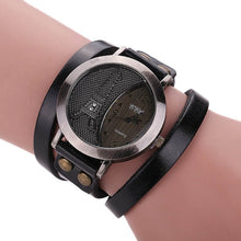 Load image into Gallery viewer, Men Women Watches Vintage Tower Cow Leather Wrapped Couple Lovers' Wristwatch Dress Casual Analog Quartz Watch TT@88