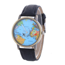 Load image into Gallery viewer, Relojes Hombre Unisex Fashion Vintage Casual World Map Men Clock Leather Band Dial Analog Quartz men's Watch Saat часы женские