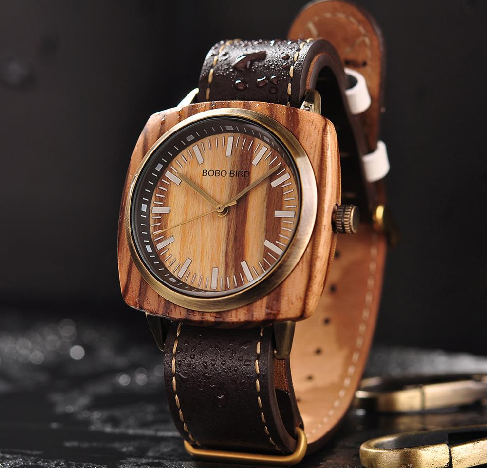 reloj hombre BOBO BIRD Men Watch Luxury Brand Wood Waterproof Watches erkek kol saati Christmas Gift for Boyfriend Dropshipping