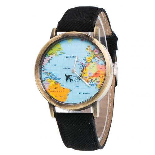 Retro Unisex World Map Faux Leather Strap Round Dial Ladies Quartz Watch Analog Leather Women Gift Women Watches часы женские