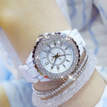 Load image into Gallery viewer, 2019 Luxury Crystal Wristwatches Women White Ceramic Ladies Watch Quartz Fashion Women Watches Ladies Wrist watches for Female