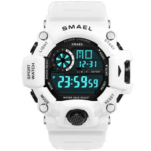 Load image into Gallery viewer, Watches Men Digital Watch White SMAEL Sport Watch 50M Waterproof Auto Date relogio masculino Digital Military Watches Mens Sport