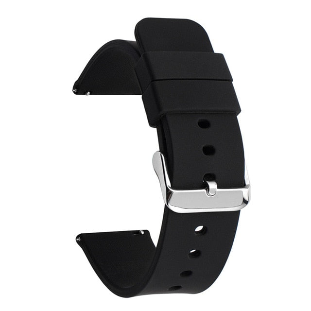 14mm 16mm 18mm 20mm 22mm 24mm Silicone Band Strap Quick Release Watchband Bracelet for Samsung Active 2 Huami Huawei Smart Watch