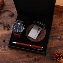 Load image into Gallery viewer, Men's Luxury Gift Sets for Fashion Men Quartz Watches High Quality  Belt Signing Pen Gifts Set for Boyfriend Husband Father's