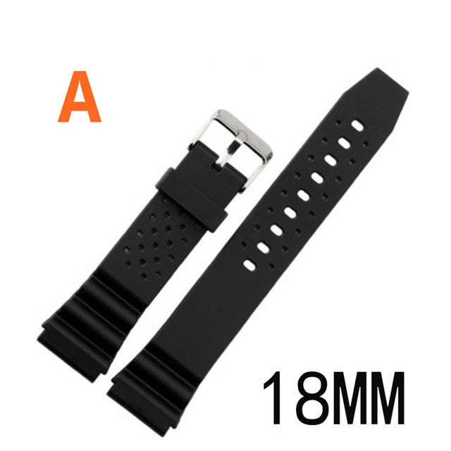 For casio Watches Watchband Silicone Rubber Bands EF Replace Electronic Wristwatch Band Sports Watch Straps 16mm 18mm 20mm 22mm