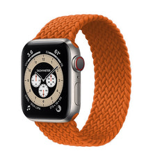 Load image into Gallery viewer, Braided Solo Loop For Apple watch band 44mm 40mm 38mm 42mm FABRIC Nylon Elastic belt bracelet iWatch series 3 4 5 se 6 strap