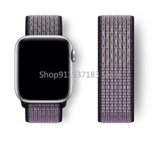 Load image into Gallery viewer, Strap For Apple Watch band 44mm 40mm 42mm 38mm Smartwatch Watchband correa Sport Nylon Loop belt Bracelet iWatch Series 4 5 SE 6