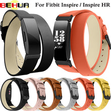 Load image into Gallery viewer, Double Wrap Leather Band for Fitbit Inspire HR Wristband Bracelet Strap for Fitbit Inspire Fitness Tracker watchband Accessories