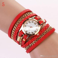 Load image into Gallery viewer, Fashion Women Bracelet Quartz Watches Vintage Colorful Multilayer Faux Leather Strap Watch Wrap Bracelet Quartz WristWatch Woman