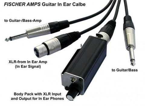 Fischer Amps® Guitar In Ear Cable with Mini Body Pack 6m
