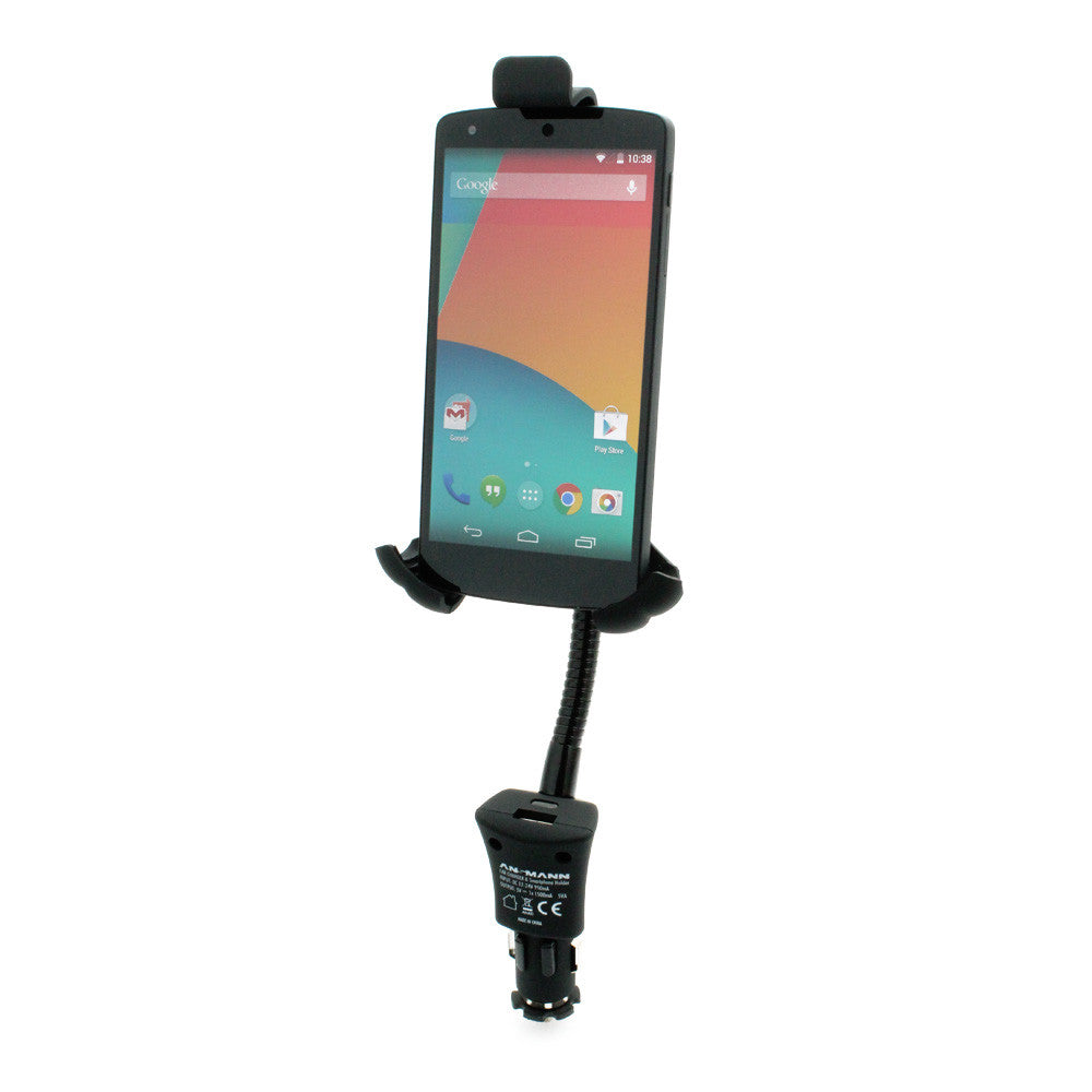 Ansmann Smartphone Car Holder and USB Charger XXL