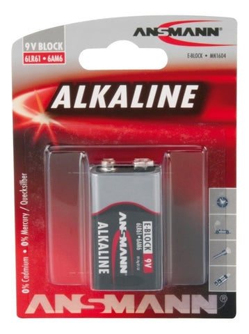 Alkaline Battery 9V Cell,  1 pc blister packaging