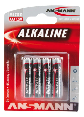 Alkaline Battery AAA Cell,  4 pk - blister packaging