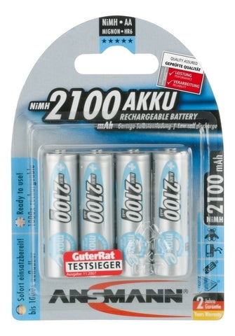 Ansmann Max E AA 2100 mah Low Discharge Rechargeable Battery 4pk.