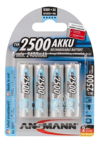 Ansmann Max E Plus AA 2500 mah Low Discharge Rechargeable Batteries 4pk