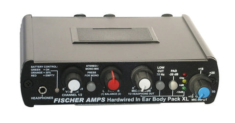 Fischer Amps Hard-wired In Ear Body Pack Headphone Amplifier XL 001130