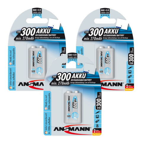 9V 300 mah 3 Pack Bundle