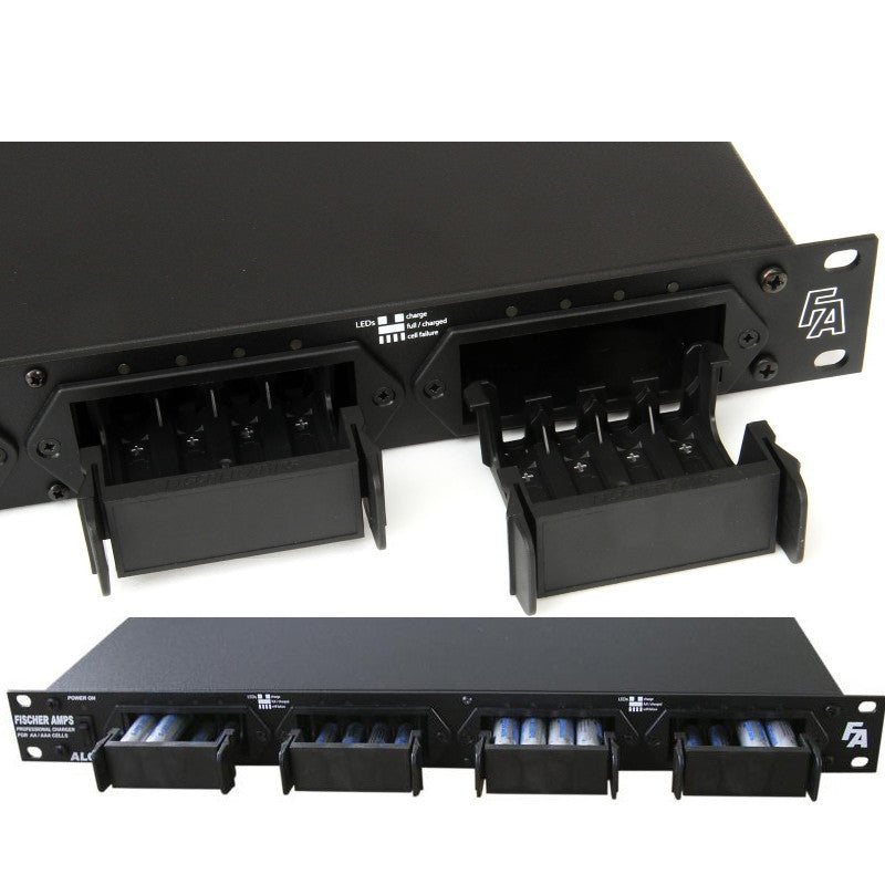 Fischer Amps Rack-mount Battery Charger for 16 AA or AAA Rechargeable Batteries ALC 161