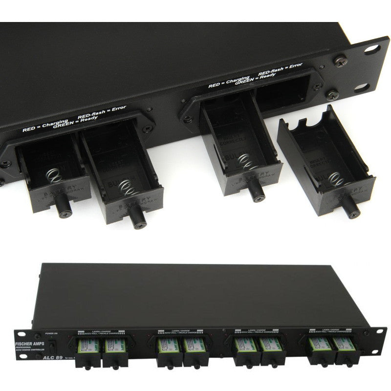 Fischer Amps Rack-Mount Battery Charger for 8 pieces of 9V Rechargeable Batteries ALC 89