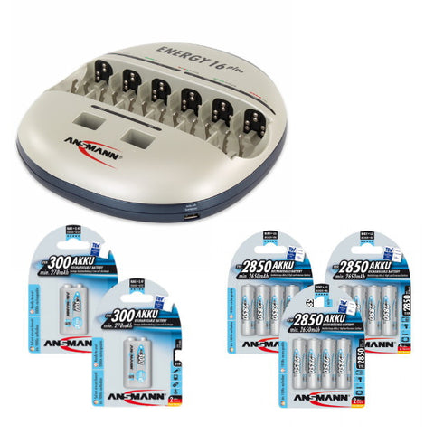 Energy 16 Plus 9V 300 & AA 2850 Standard Bundle