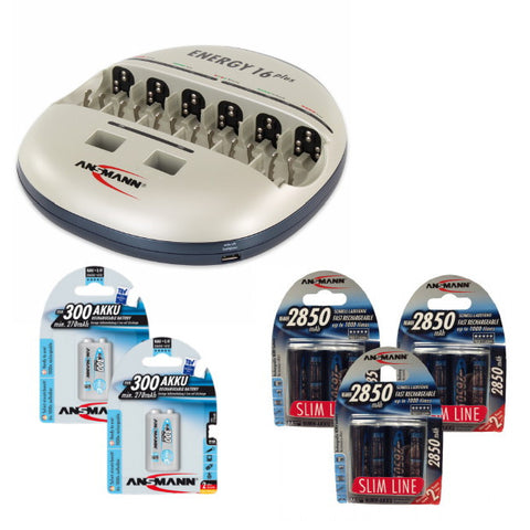 Energy 16 Plus 9V 300 & AA 2850 Slimline Bundle