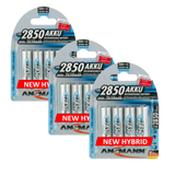 ANSMANN HYBRID AA 2850 MAH HIGH CAPACITY RECHARGEABLE BATTERIES -12 PK