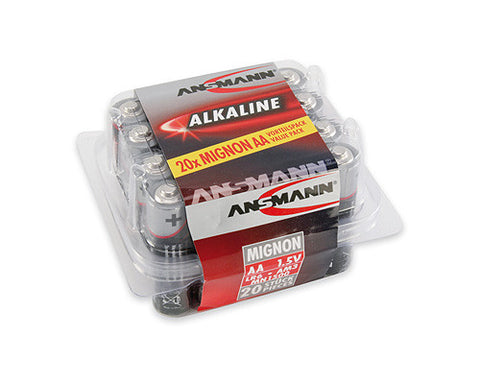 Ansmann Value Pack - AA Alkaline Batteries 20 pk  5015548