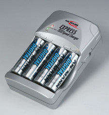 Ansmann Express Kit- (Charger and 4 AA 2850mah cells)