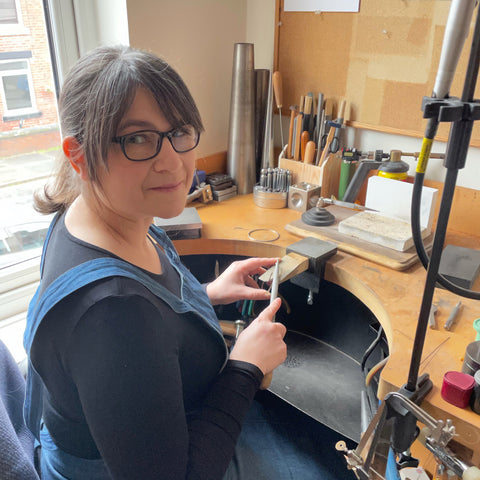 About Genevieve Broughton - At the workbench