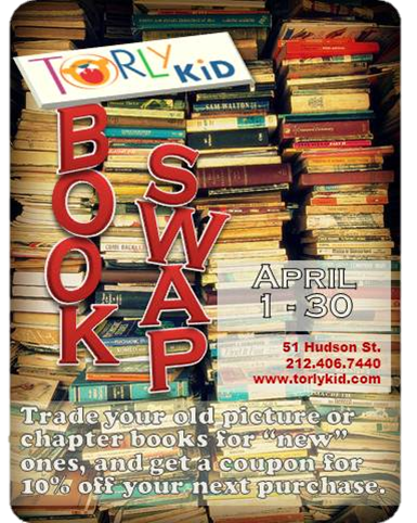 April is Book Swap Month in Tribeca!