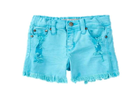 Tractr Super Fray Shorts Cove Blue