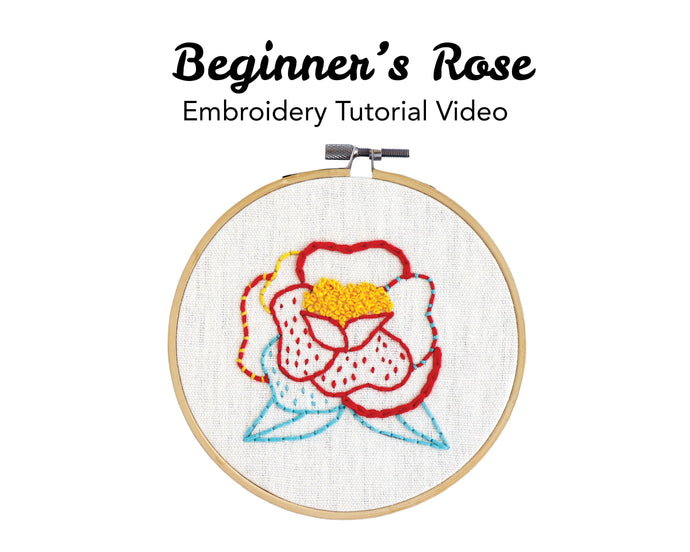 Beginner's Rose Embroidery Kit: Tutorial Series