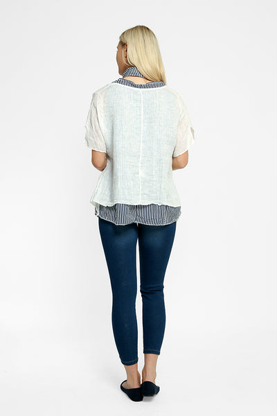 Last Chance 14 Linen/Cotton Top