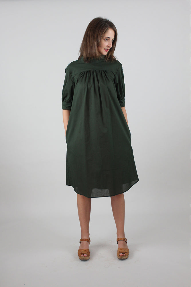 Beverly Dress: Forest