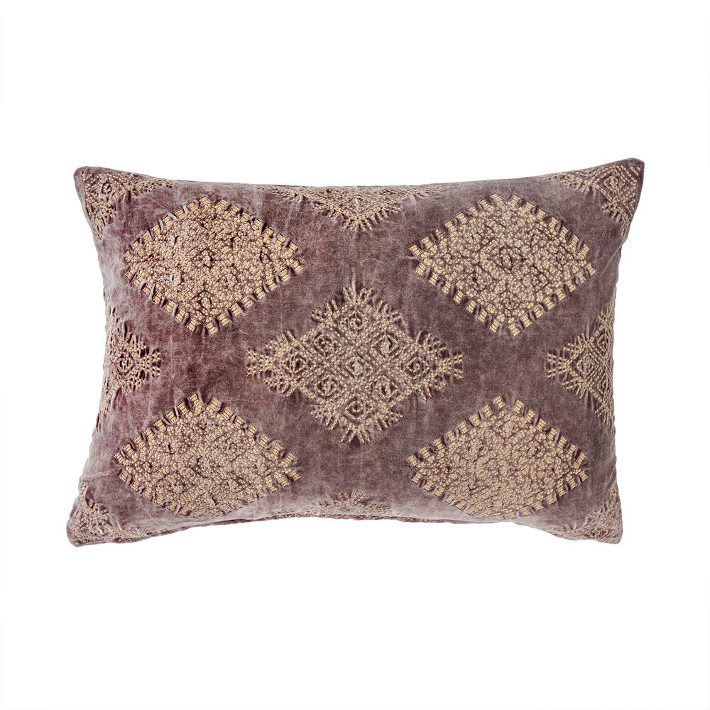 Purple Velvet Lumbar Pillow