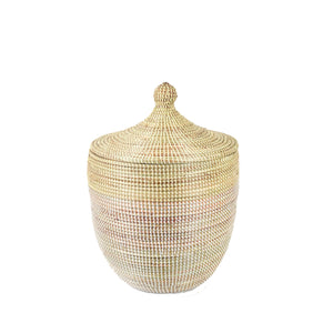 Senegalese Hamper - Two Tone Natural and White