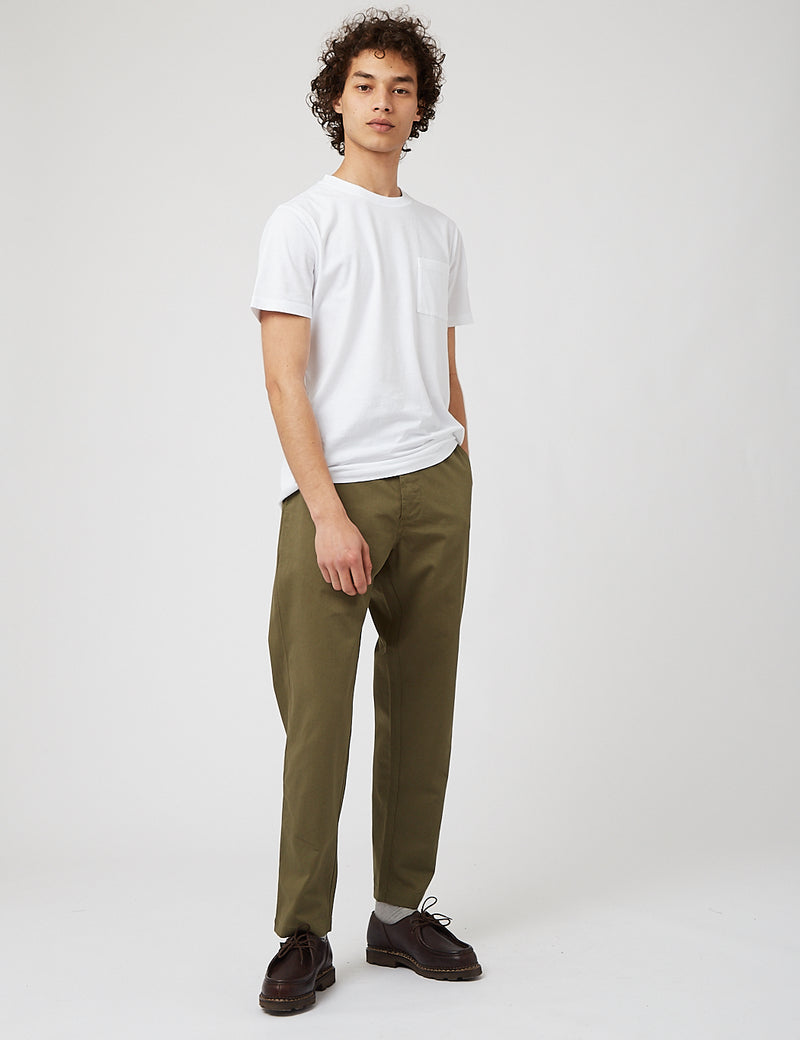 Universal Works Military Chino - Light Olive