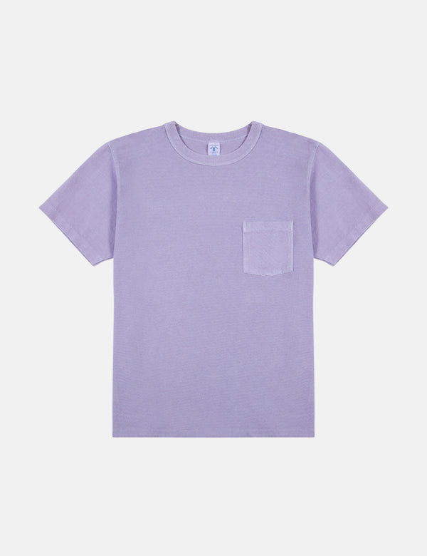 Velva Sheen Pigment Dyed USA Made T-Shirt (Pocket) - Lavender