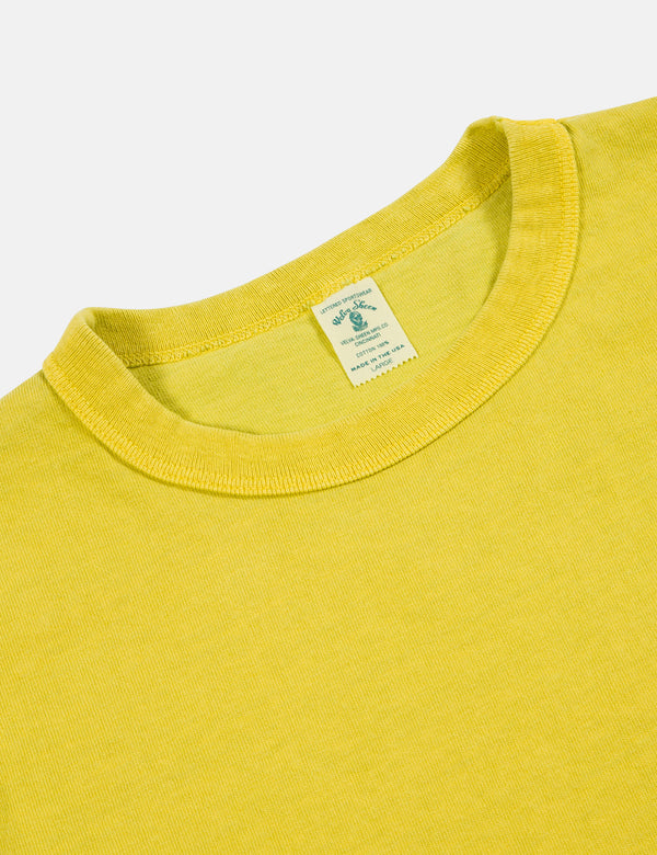 Velva Sheen Pigment Dyed USA Made T-shirt (Pocket) - Gold
