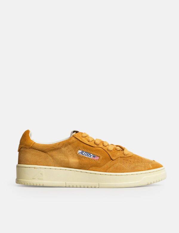 Autry Medalist SS03 Trainers (Suede) - Ocher